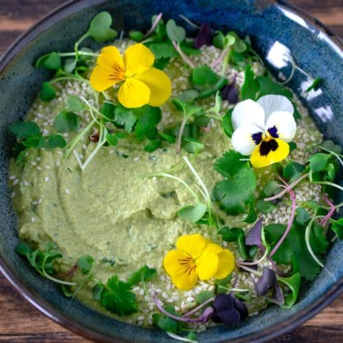 Pea Herb Sunflower Dip {raw, vegan}